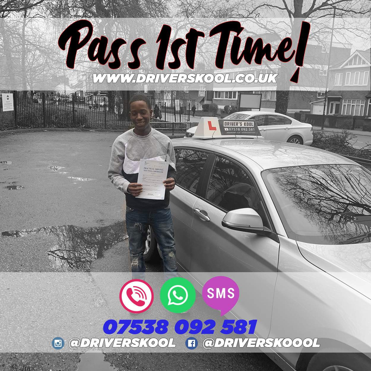 PASS 1ST TIME WITH US